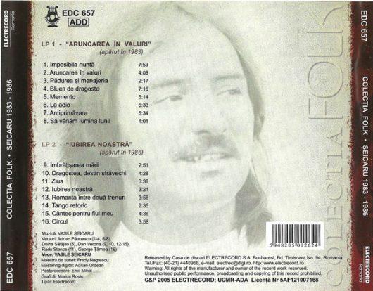 CD,Vasile Șeicaru, Colectia Folk, nr. 1