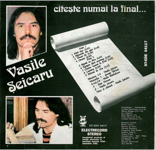 Vasile Șeicaru,Citește numai la final