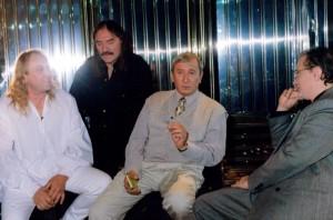 Cu Hrusca, George Tarnea si  realizatorul tv Eugen Dumitru...